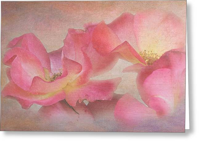 Glamour Roses Greeting Card by Angie Vogel