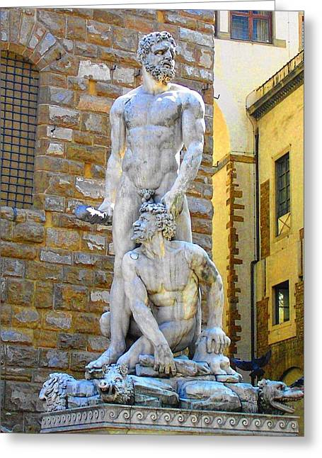 Glance At Hercules And Casus Greeting Card