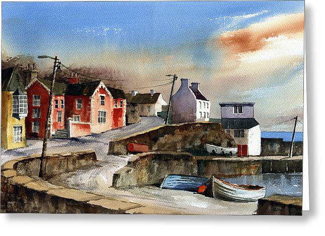 Glandore Village West Cork Greeting Card