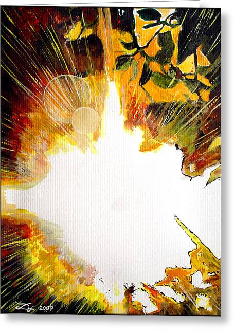 Glare Greeting Card by Daniel Janda