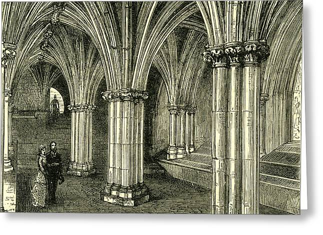 Glasgow Cathedral 1880 The Crypt Greeting Card
