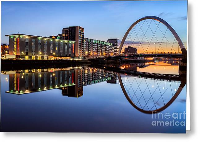 Glasgow Clyde Arc  Greeting Card by John Farnan