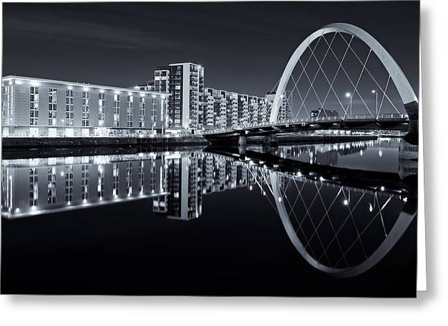 Glasgow In Black And White Greeting Card