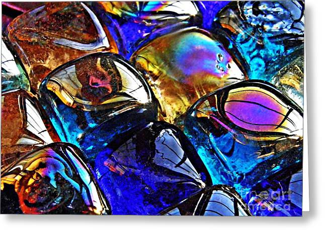 Glass Abstract 11 Greeting Card by Sarah Loft