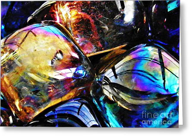 Glass Abstract 120 Greeting Card by Sarah Loft
