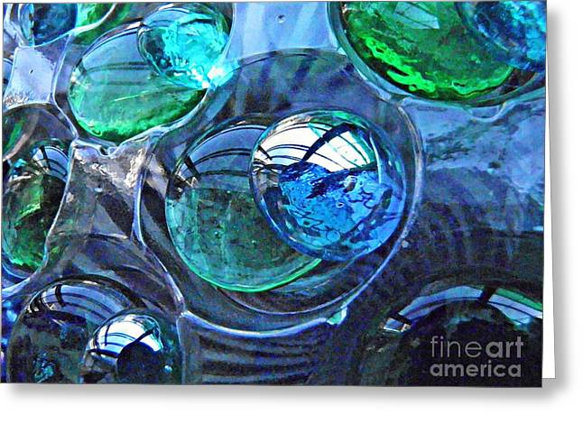 Glass Abstract 171 Greeting Card by Sarah Loft