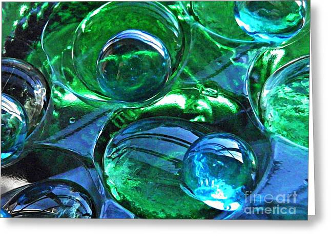 Glass Abstract 172 Greeting Card by Sarah Loft