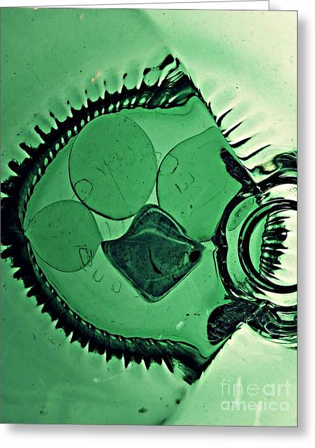 Glass Abstract 179 Greeting Card