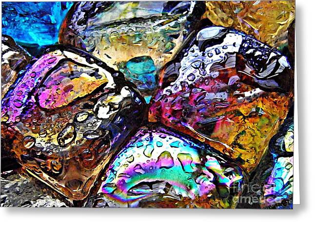 Glass Abstract 18 Greeting Card by Sarah Loft