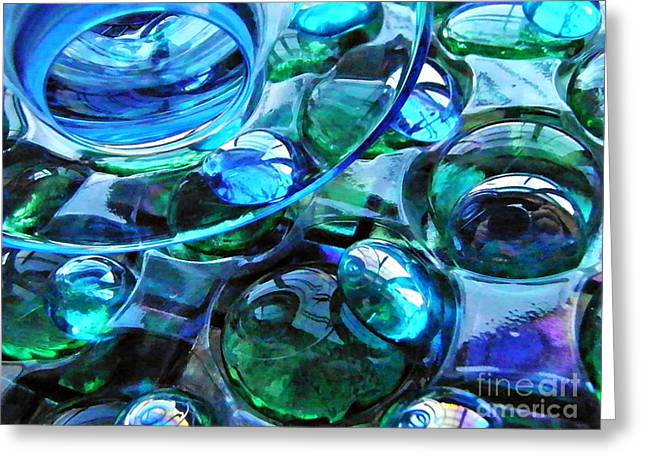 Glass Abstract 184 Greeting Card by Sarah Loft