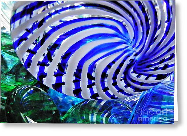 Glass Abstract 203 Greeting Card