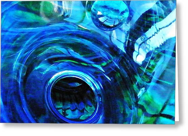 Glass Abstract 213 Greeting Card