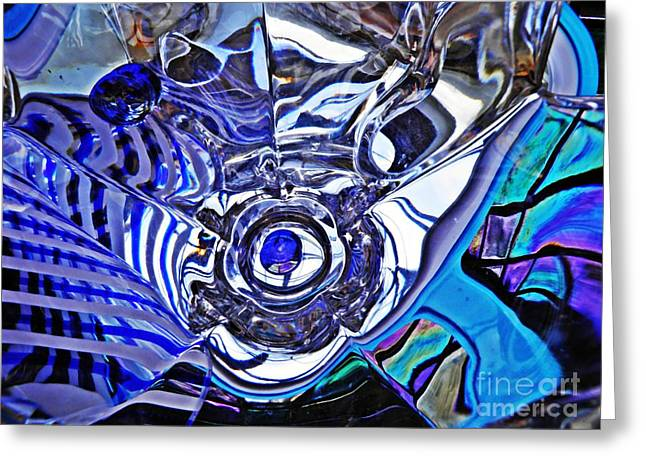 Glass Abstract 215 Greeting Card by Sarah Loft