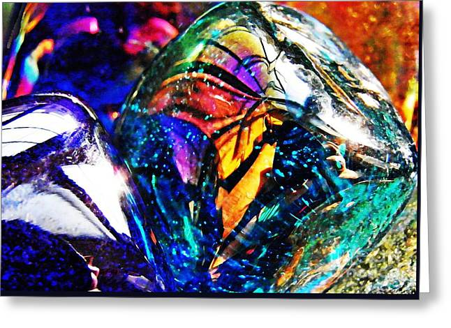 Glass Abstract 22 Greeting Card by Sarah Loft