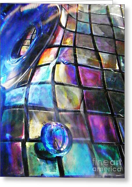Glass Abstract 239 Greeting Card