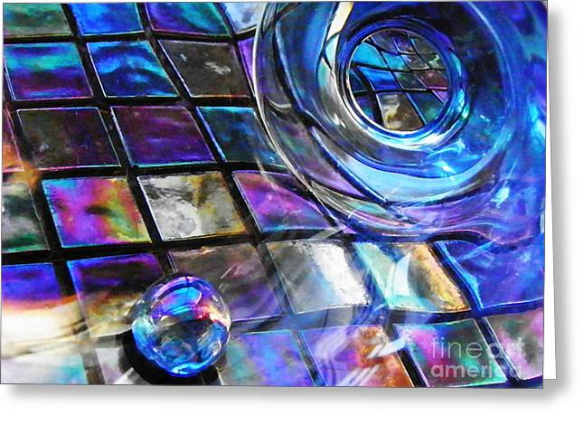 Glass Abstract 241 Greeting Card by Sarah Loft