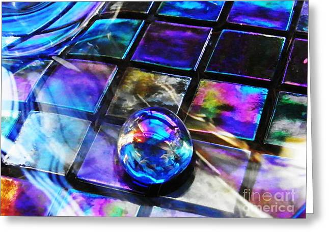 Glass Abstract 256 Greeting Card by Sarah Loft
