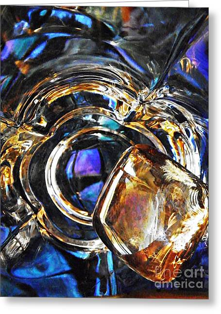 Glass Abstract 278 Greeting Card by Sarah Loft