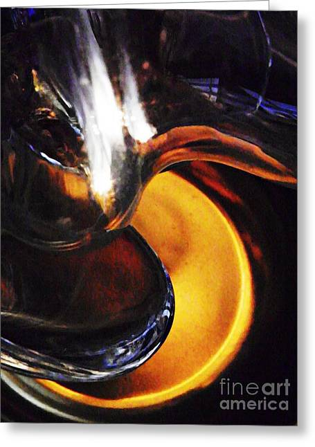 Glass Abstract 284 Greeting Card by Sarah Loft