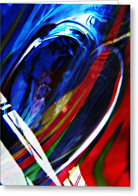 Glass Abstract 293 Greeting Card by Sarah Loft