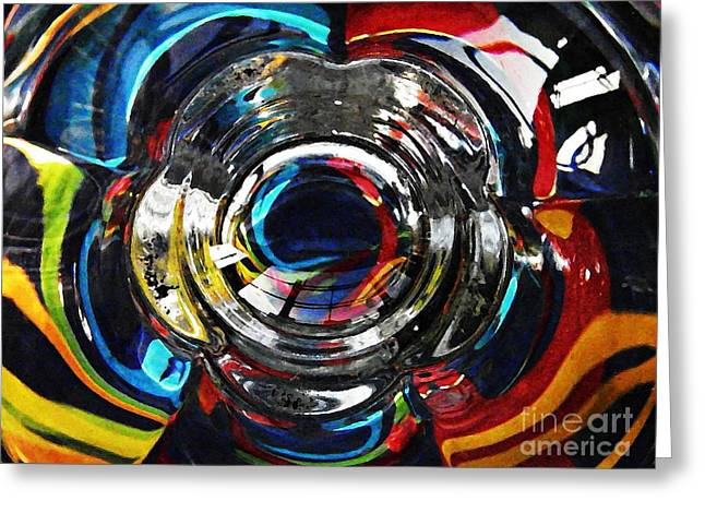 Glass Abstract 295 Greeting Card by Sarah Loft