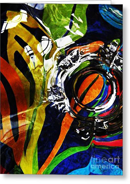 Glass Abstract 300 Greeting Card
