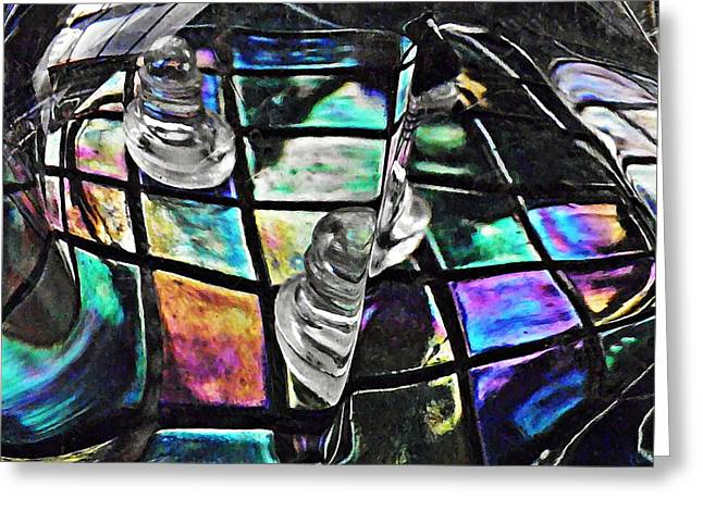 Glass Abstract 368 Greeting Card by Sarah Loft