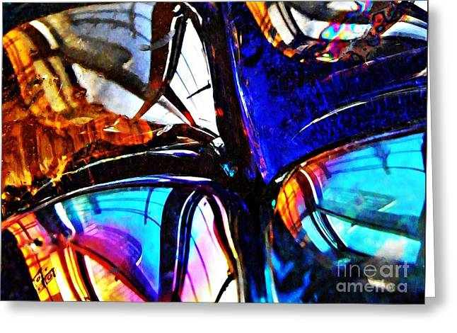 Glass Abstract 4 Greeting Card by Sarah Loft