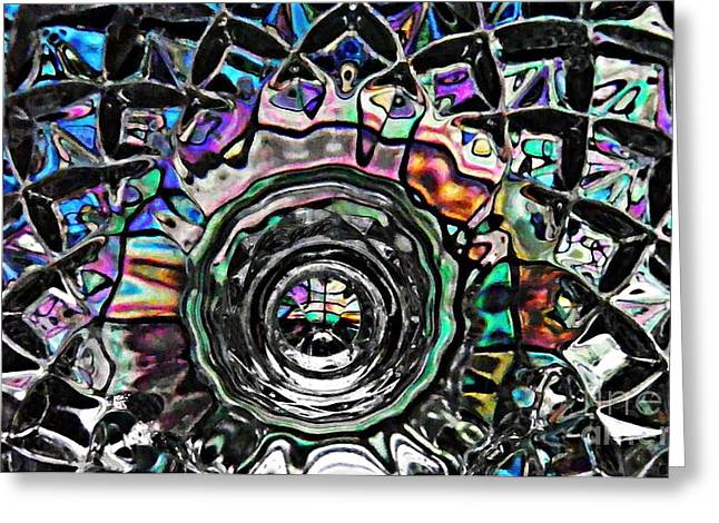 Glass Abstract 431 Greeting Card by Sarah Loft
