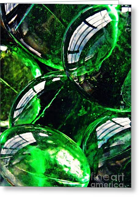 Glass Abstract 48 Greeting Card by Sarah Loft