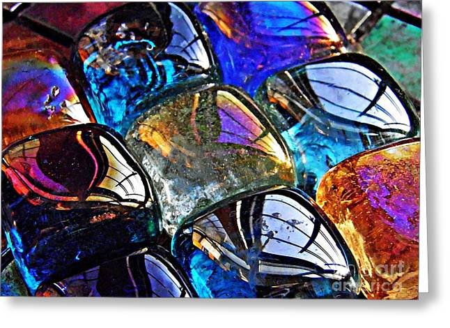 Glass Abstract 54 Greeting Card by Sarah Loft