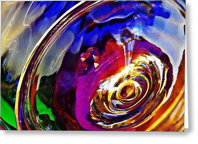 Glass Abstract 549 Greeting Card by Sarah Loft