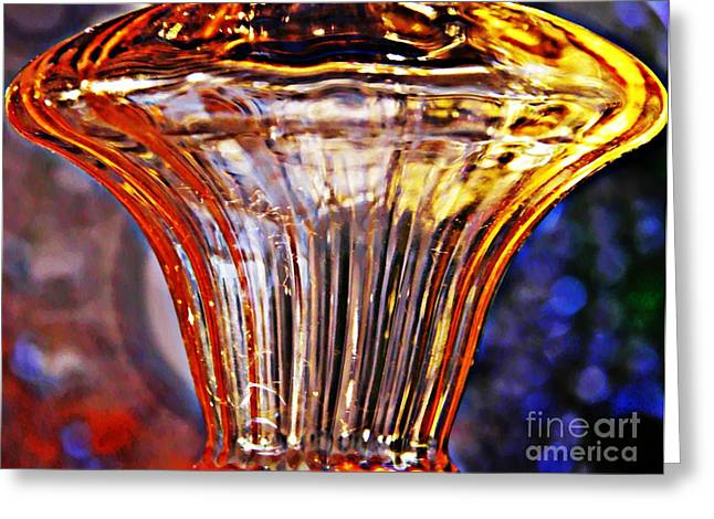 Glass Abstract 562 Greeting Card by Sarah Loft