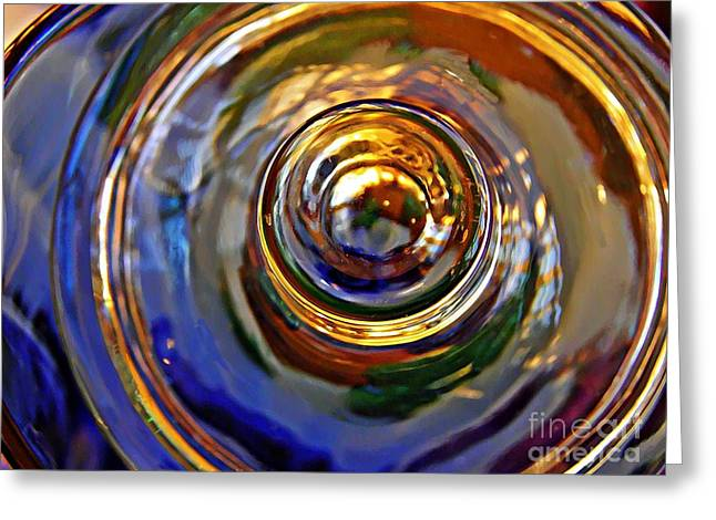 Glass Abstract 564 Greeting Card
