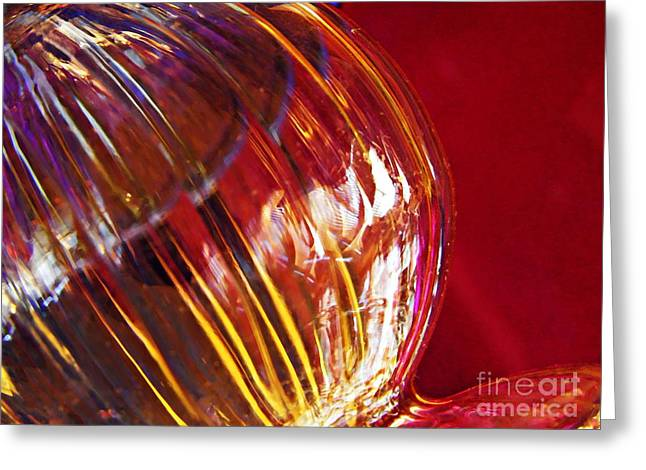 Glass Abstract 567 Greeting Card