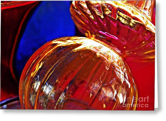Glass Abstract 569 Greeting Card by Sarah Loft