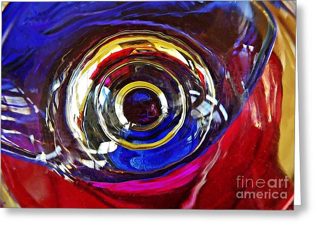 Glass Abstract 572 Greeting Card