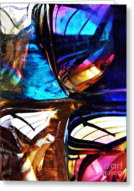 Glass Abstract 58 Greeting Card by Sarah Loft