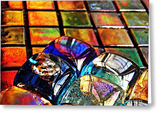 Glass Abstract 6 Greeting Card by Sarah Loft