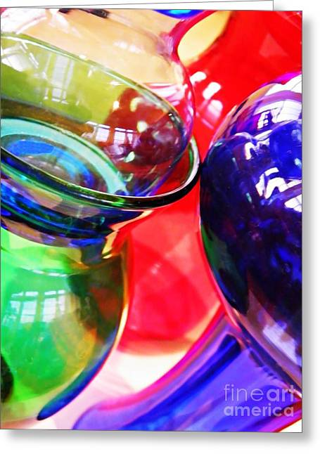 Glass Abstract 618 Greeting Card by Sarah Loft