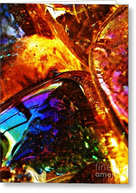 Glass Abstract 63 Greeting Card by Sarah Loft