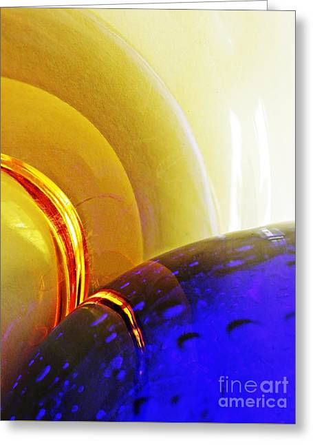 Glass Abstract 645 Greeting Card