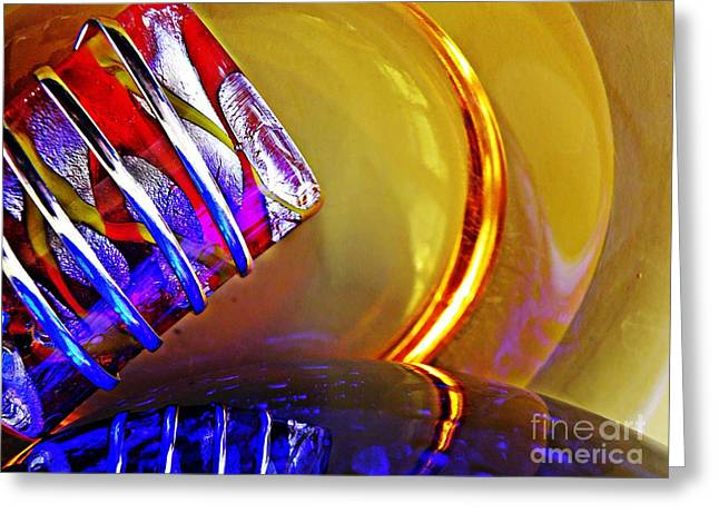 Glass Abstract 656 Greeting Card