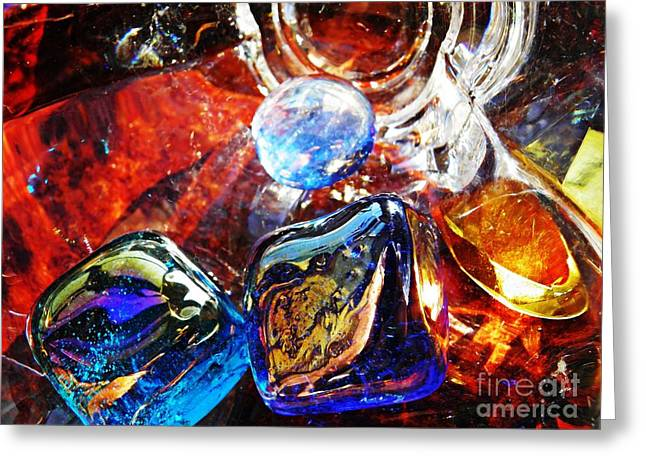 Glass Abstract 684 Greeting Card by Sarah Loft