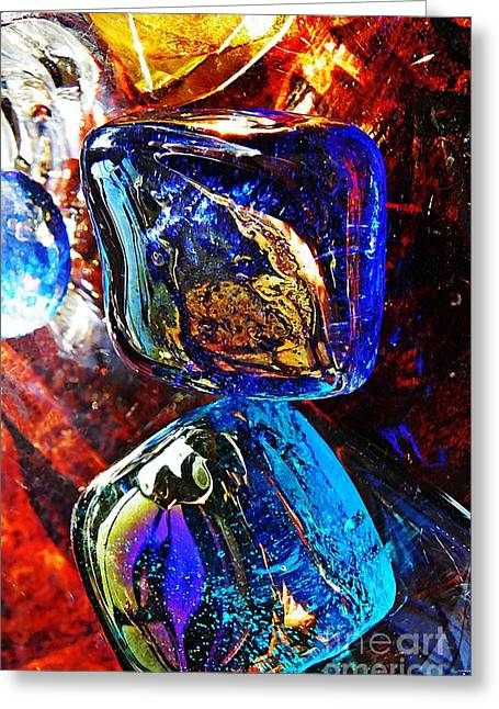 Glass Abstract 685 Greeting Card by Sarah Loft