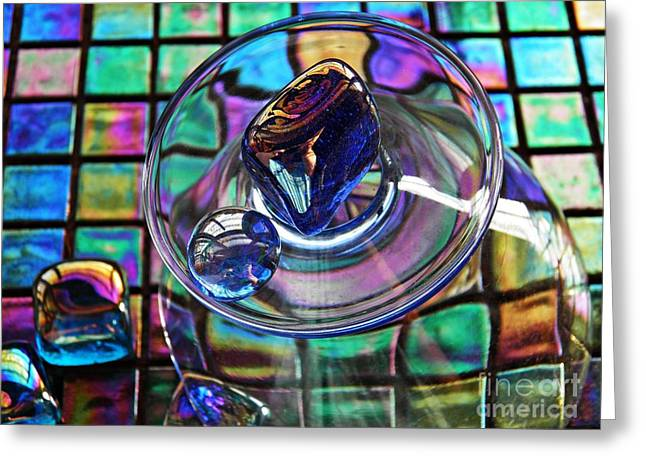 Glass Abstract 693 Greeting Card by Sarah Loft