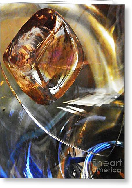 Glass Abstract 710 Greeting Card