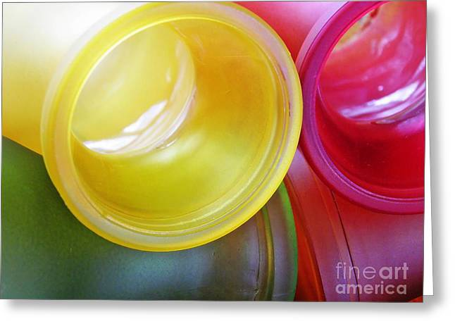 Glass Abstract 721 Greeting Card by Sarah Loft