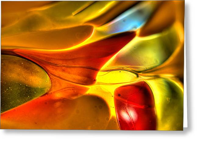 Glass And Light Greeting Card