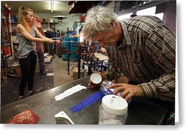 Glass Art Process Greeting Card by Paul Indigo